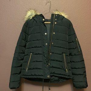 Top shop navy puffer jacket